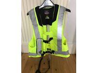 Adult Hit Air Hi Viz Equestrian Safety Vest (Medium) + 4 canisters