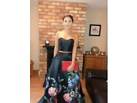 Black formal dress 2 piece excellent condition only worn once £100
