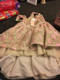 girls dress size ten still tagged never worn plus sparkly boots