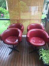 Retro Red Chairs and Dining Table Upwey Yarra Ranges Preview