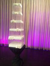 5 Tier Elegant White Square Icing Dummy Cakes For Sale Oakleigh Monash Area Preview