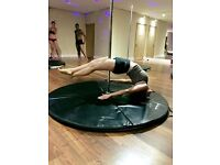 Pole fitness lessons, group classes and private classes available in central Brighton