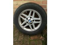 Genuine BMW alloy car wheels with tyres. 3series