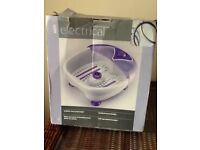 Electric bubble foot massager/spa
