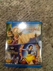 Disney Tangled and Snow White Blu-Ray Disc