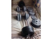 York Weights - Bar and handweights - dumwell