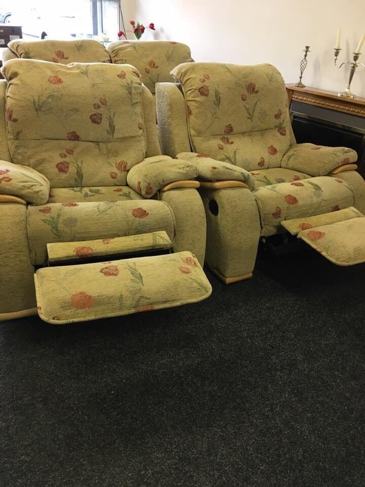Sofa and 2 recliner chairs can deliver