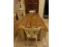 rustic table and bench sets...ANY SIZE / COLOUR...indoor / outdoor