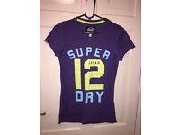 Ladies small purple Superdry tshirt