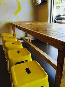 Fugly Wood End Grain Cafe Tables Marleston West Torrens Area Preview