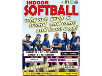 INDOOR SOFTBALL - beginners sessions for new ladies