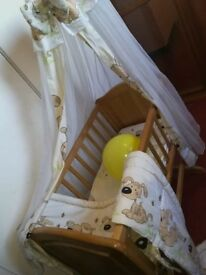 Complete Mothercare Cradle with mattress