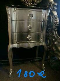 Chest of drawers baroque rococo french antique ornate silver