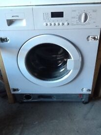 Washing Machine Smeg Cucina Model: WMI12C7 Integrated 7Kg1200 rpm Rating A+USED Working Condition