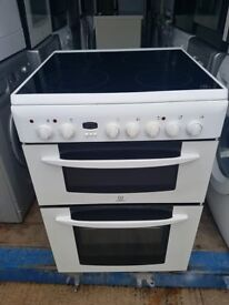 'Indesit' Ceramic Top Electric Cooker - Good Condition / Free Local Delivery