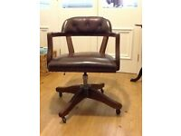 Leather swivel/tilt desk chair