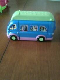 Polly pocket disco bus