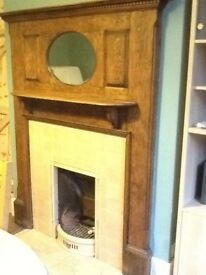 1930's fireplace surround with mirror