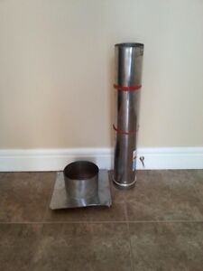 Exhaust vent and thimble for garage heater