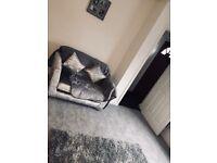 Grey crush velvet sofa