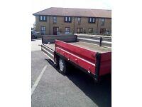 16 Foot Twin axle drop side trailer