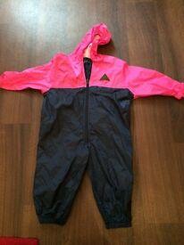 Jojo Maman Bebe Girls Puddle Suit - Age 1-2