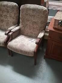Wooden Framed Armchair