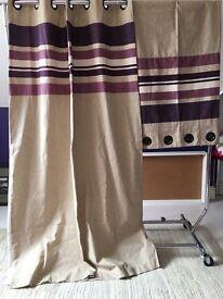 Purple stripe curtains