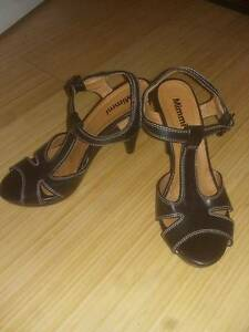 Black with white stitching, faux leather MImmi heels Beaconsfield Fremantle Area Preview