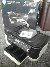 BOXED WIRELESS HP OFFICEJET 6500 PRINTER EXCELLENT CONDITION BARGAIN AT £20