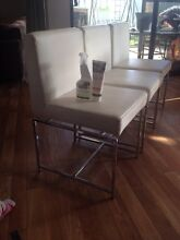 White Leather Chairs Abbey Busselton Area Preview