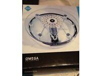 Bathroom scales glass new in box omega