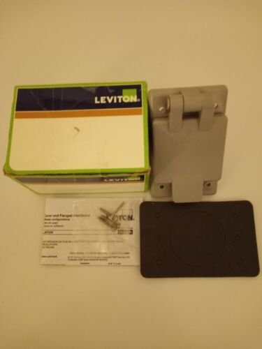 Leviton 5278-CWP Straight Blade Flanged Male Power Inlet Receptacle 15A 125V