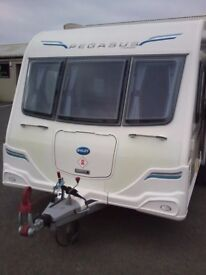 Bailey Pegasus Verona 2 4 berth with fixed bed end washroom complete with motor mover