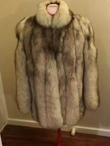 Vintage Silver Fox Fur Coat Kings Park Blacktown Area Preview