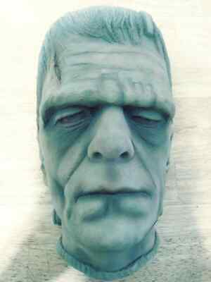Used, Frankenstein's monster head plaque # 111 slightly painted rare Boris Karloff for sale  Shipping to Canada