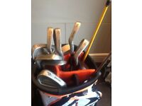 Set of golf clubs and new Lynx bag
