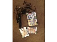 Xbox 360 Kinect with 4 games - hardly used - like new - excellent condition