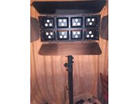 multi coloured stage wash light , many programmes , sound to light , great for singer or band