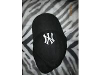 NEW ERA BLACK NY CAP IN GREAT CONDITION HAVE OTHER CAPS FOR SALE
