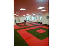 80 x 20mm Basic Jigsaw Mats 1m2 Red/Black Martial Arts Exercise Keep Fit **FREE 24hr Delivery**