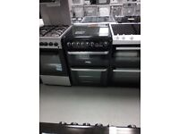 Cannon Harrogate 60cm Double Oven Dual Fuel Cooker - Black Ex display (12 Months Warranty)