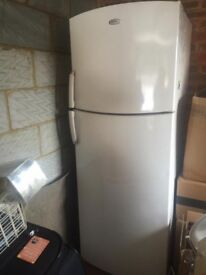 whirlpool white fridge freezer