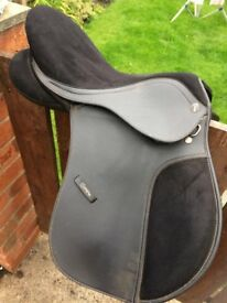 Black synthetic saddle