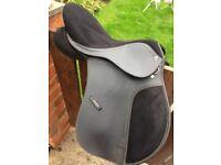 Black synthetic saddle