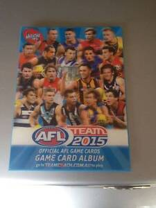 AFL team 2015 game card album for sale Forest Hill Whitehorse Area Preview