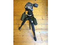 Sturdy tripod with 3 way head - Calumet 7500 & 7058