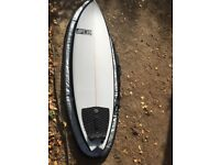 Mundaka Surf Company 6ft x 20.25 swallow tail thruster surfboard