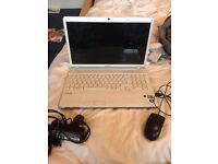 SONY VAIO LAPTOP - WHITE/SILVER