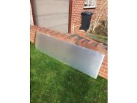 2 thick white polycarbonate sheets, £10